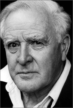Spy novelist John Le Carre admits he was curious about what was on the other side of the Iron Curtain during his time as a British intelligence officer.
