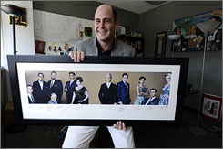 At the office: The cast of Mad Men is in the hands of creator Matthew Weiner. The AMC show is up for a best-drama Emmy.