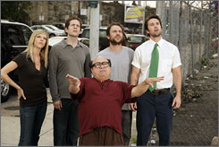 It's looking up: Kaitlin Olson, Glenn Howerton, Danny DeVito, Charlie Day and Rob McElhenney are back in Season 4. It won?t be the last, after FX's 39-episode order.