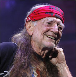Willie Nelson says that Farm Aid will donate $30,000 to farmers in Texas and Louisiana.