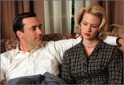 Mad marriage: The Drapers (Jon Hamm and January Jones) are not the perfect couple they appear to be.
