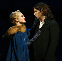 Dickens on Broadway: Brandi Burkhardt and James Barbour.