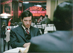 Second chance: The restaurant scene in which Michael (Al Pacino) shoots Sollozzo and McCluskey was filmed over two nights; some footage, which was incorrectly processed, looked washed-out. It's now fixed.