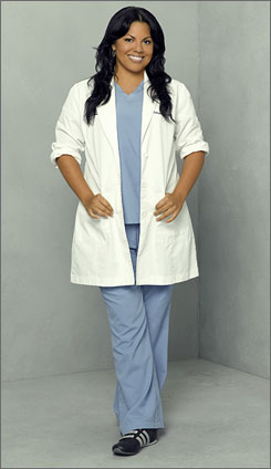 Sara Ramirez stars as Callie Torres on Grey's Anatomy one of 5 bisexual regular characters on network television this season.