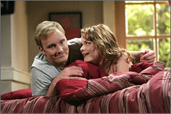 Blue-collar guy: Jay Mohr, with Jaime King, is Gary.