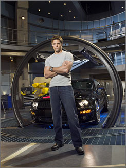 Transmission trouble: Justin Bruening is Mike Tracer, and Val Kilmer supplies the voice of KITT in the remake of the 1980s show.