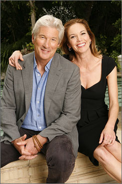 Third time around: Richard Gere and Diane Lane team up on screen again for Nights in Rodanthe,  which opens Friday. They also have co-starred in The Cotton Club (1984) and Unfaithful (2002).