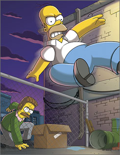 "Season premiere: Ned Flanders must bring Homer to justice after he skips bail in the ""Sex, Pies and Idiot Scrapes"" episode that kicks off the 20th season of The Simpsons."