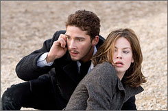Sorry, I've got to take this call: Shia LaBeouf and Michelle Monaghan are two innocents taking orders from a diabolical mechanical voice.