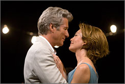 Quick to love: Richard Gere and Diane Lane escape to the same seaside inn, and within a few days, they're smitten.