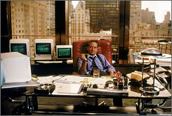 Wall Street: Michael Douglas as corporate raider Gordon Gekko.