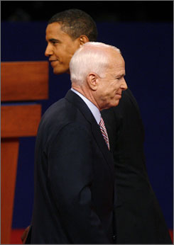 The first debate: Barack Obama and John  McCain square off in Oxford, Miss.