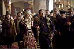 Virgin actress: Joss Stone stars as Anne of Cleves,  wife of King Henry VIII (Jonathan Rhys Meyers) on The Tudors.
