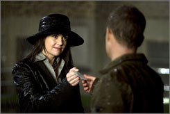 And she's 157 years old, too: Amanda Tapping, with Robin Dunne, is Dr. Helen Magnus in Sanctuary, Sci Fi Channel's new series about a haven for the unique beings who live among us.