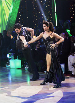 The last dance: Misty May-Treanor with partner Maksim Chmerkovskiy in last week's performance.