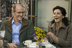 We've got the beat: Richard Jenkins and Hiam Abbas in The Visitor.