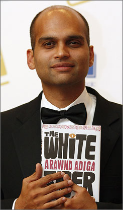 Aravind Adiga's novel The White Tiger scored the Man Booker prize.