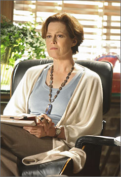 Sigourney Weaver plays Eli's therapist in Tuesday's season premiere.