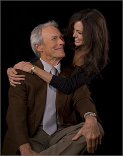 "Smiling eyes: Clint Eastwood jokingly calls his working partnership with Angelina Jolie ""Clintalina."" Jolie stars in the director's Changeling, which arrives Oct. 24."