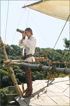 Shipwrecked: Robinson Crusoe (Philip Winchester) is stranded but resourceful.
