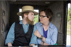 Shut up and Drive: Seth Green and Clark Duke share a moment.