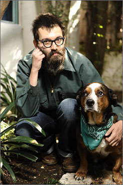 Mind-bender: Mark Everett, shown with Bobby, has written Things the Grandchildren Should Know.