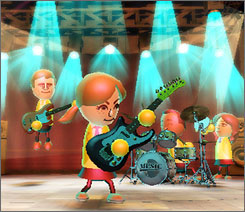 Wii Music: Rock out on guitar, drums or any of 60 instruments with Wii remote and nunchuk.