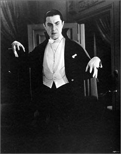 He vants blood: Bela Lugosi vamps it up in 1931's Dracula.
