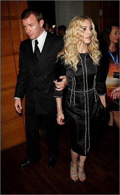 In London: Guy and Madonna at RocknRolla after-party Sept. 1.