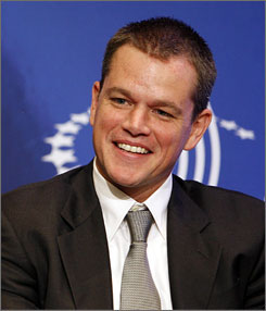 """Matt Damon on being name-dropped by Joe the Plumber:  """"I'm honored to be in the little passion play, to be an extra."""""""