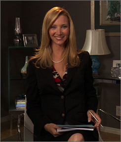 The doctor is online: Lisa Kudrow plays a less-than-sympathetic shrink in Web Therapy, an Internet-only improv series.