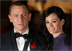 Craig, Daniel Craig: The star of the show and his girlfriend, Satsuki Mitchell.