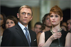 License to thrill again: Daniel  Craig and Gemma Arterton in Quantum of Solace.