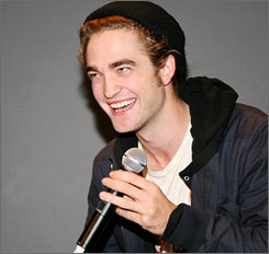 Twilight star Robert Pattinson attributes his vampire character's lean physique to a strict regimen of animal blood, tree climbing and running at the speed of light.