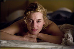 Mystery woman: Kate Winslet ages 35 years in The Reader.
