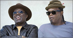 Bernie Mac, shown here with Samuel L. Jackson,  died of complications from pneumonia in August after production on the film ended.