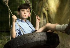 Asa Butterfield stars as Bruno in The Boy in the Striped Pajamas, a story of innocence vs. Nazi propaganda during the Holocaust.