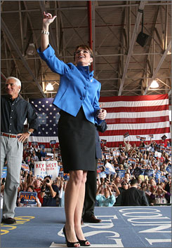 She's got the look: Analysts say Sarah Palin's distinctive fashion sense could influence women well after the election.