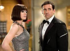 Anne Hathaway is Agent 99 and Steve Carell is Maxwell Smart in Get Smart.