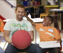 Seann William Scott plays Wheeler, who, instead of going to jail, gets assigned to mentor troublemaker Ronnie (Bobb'e J. Thompson) in Role Models.