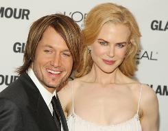 Keith Urban and Nicole Kidman were among the stars at the 2008 Glamour Women of the Year Awards on Monday in New York City.