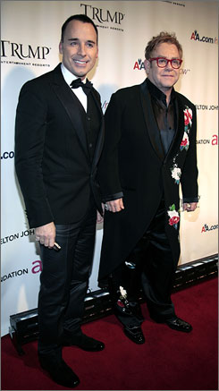 """I don't want to be married. I'm very happy with a civil partnership. If gay people want to get married, or get together, they should have a civil partnership,"" said Elton John, who cemented his relationship with David Furnish in 2005. ""The word 'marriage,' I think, puts a lot of people off. """