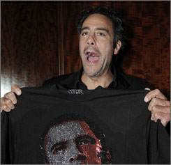 Brad Garrett, seen here celebrating on election night, is under investigation after an alleged confrontation with a photographer.