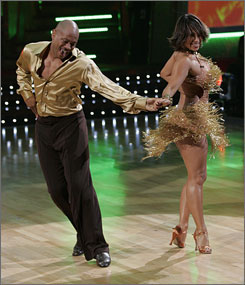 Olympic track sprinting star Maurie Greene and Cheryl Burke exited Dancing With the Stars Tuesday night.