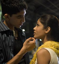 Dev Patel plays Jamal, an orphan who wins a fortune on India's most popular quiz show. He also wins the heart of a street urchin named Latika (Freida Pinto).