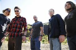 Saving Abel's Blake Dixon, left, Jared Weeks, Scott Bartlett, Jason Null and Eric Taylor have moved up in the music world since their first show for 400 people in their hometown on Corinth, Miss.