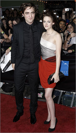 Hope you wore earplugs: The screams for Twilight stars Robert Pattinson and Kristen Stewart were deafening.