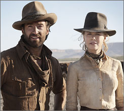 Hugh Jackman and Nicole Kidman star in the epic Australia.