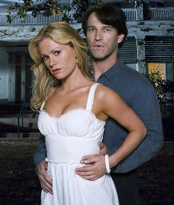 "A ""Saturday matinee"" kind of serial: Anna Paquin and Stephen Moyer of True Blood."