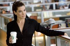 Sandra Bullock stars in The Proposal as an executive who abuses her assistant, then marries him to stay in the USA.